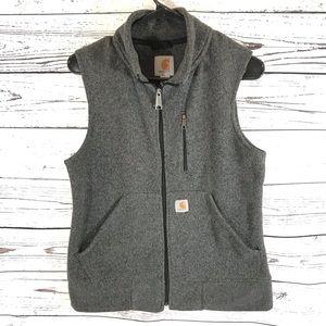 Women's Carhartt Grey Full Zip Soft Polyester Vest